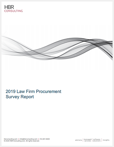 lp 2019 law firm procurement survey report